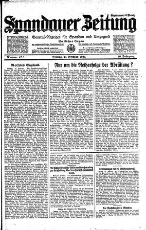 Spandauer Zeitung on Feb 24, 1933