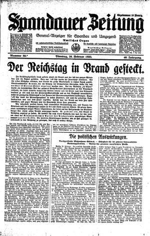 Spandauer Zeitung vom 28.02.1933