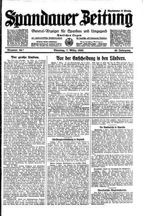Spandauer Zeitung vom 07.03.1933