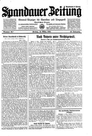 Spandauer Zeitung vom 10.03.1933