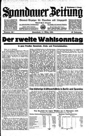 Spandauer Zeitung vom 11.03.1933