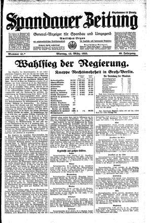Spandauer Zeitung vom 13.03.1933