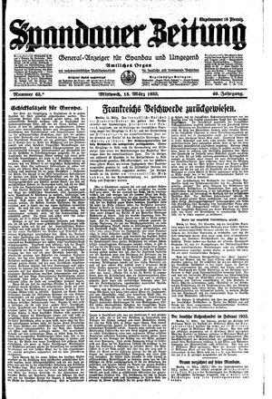 Spandauer Zeitung vom 15.03.1933