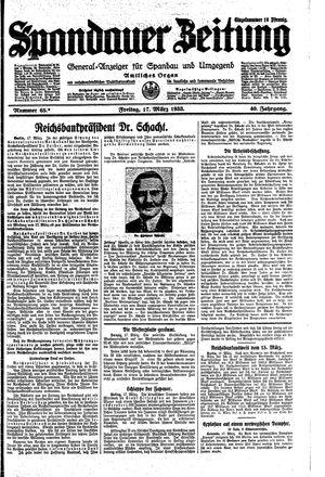 Spandauer Zeitung vom 17.03.1933