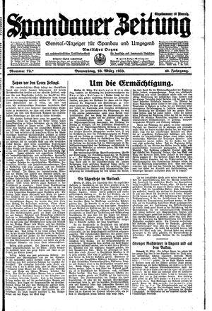Spandauer Zeitung vom 23.03.1933