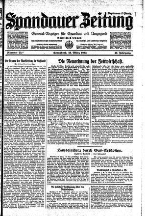 Spandauer Zeitung vom 25.03.1933