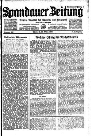Spandauer Zeitung vom 29.03.1933