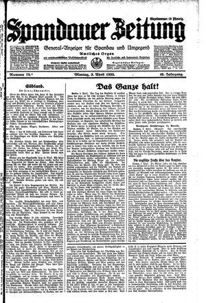 Spandauer Zeitung on Apr 3, 1933
