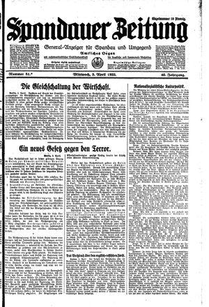 Spandauer Zeitung vom 05.04.1933