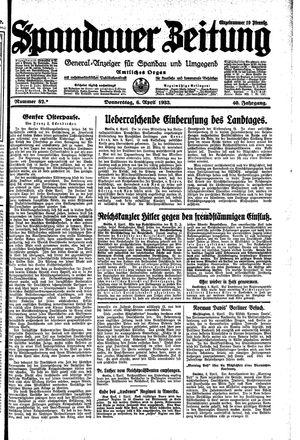 Spandauer Zeitung on Apr 6, 1933
