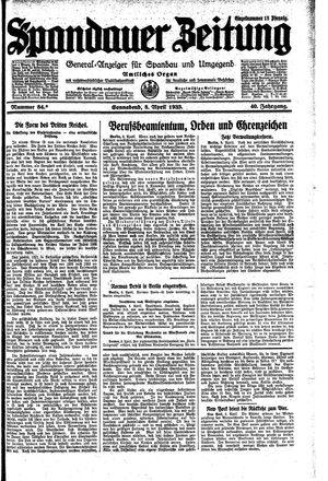 Spandauer Zeitung vom 08.04.1933