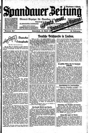 Spandauer Zeitung vom 15.04.1933