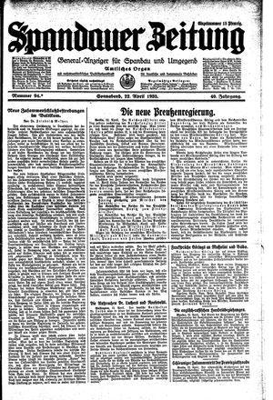 Spandauer Zeitung on Apr 22, 1933