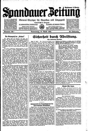 Spandauer Zeitung vom 27.04.1933