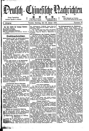 Deutsch-chinesische Nachrichten vom 24.01.1931