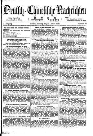 Deutsch-chinesische Nachrichten on Jan 25, 1931