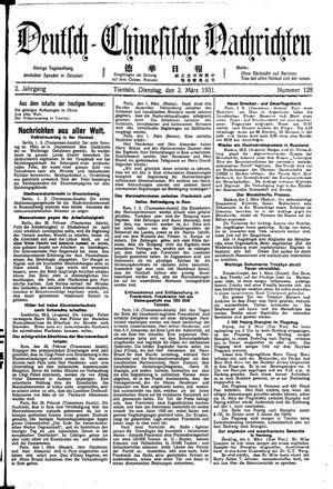 Deutsch-chinesische Nachrichten on Mar 3, 1931