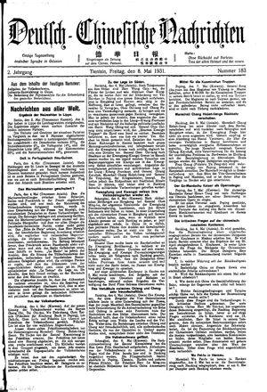 Deutsch-chinesische Nachrichten vom 08.05.1931