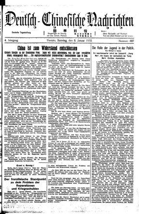 Deutsch-chinesische Nachrichten vom 08.01.1933