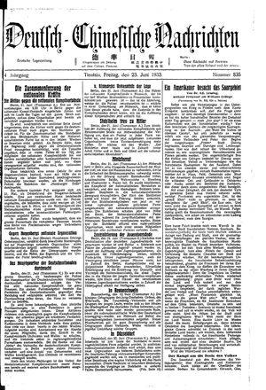 Deutsch-chinesische Nachrichten vom 23.06.1933