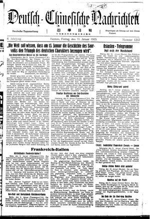 Deutsch-chinesische Nachrichten vom 11.01.1935
