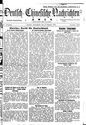 Deutsch-chinesische Nachrichten on Feb 2, 1935