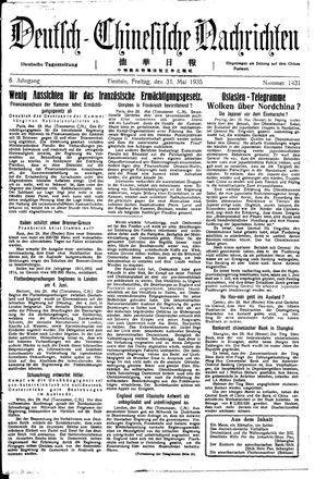 Deutsch-chinesische Nachrichten vom 31.05.1935