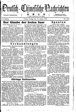Deutsch-chinesische Nachrichten on Jan 15, 1937