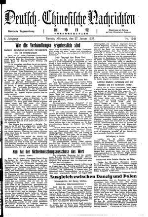 Deutsch-chinesische Nachrichten vom 27.01.1937