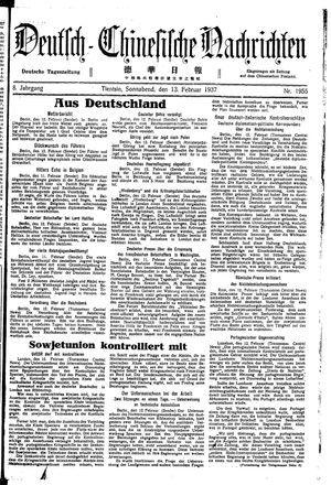 Deutsch-chinesische Nachrichten vom 13.02.1937