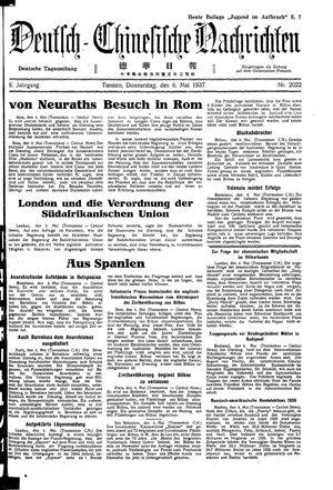 Deutsch-chinesische Nachrichten vom 06.05.1937