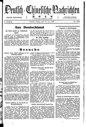 Deutsch-chinesische Nachrichten vom 18.06.1937