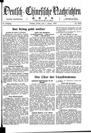 Deutsch-chinesische Nachrichten vom 07.01.1938