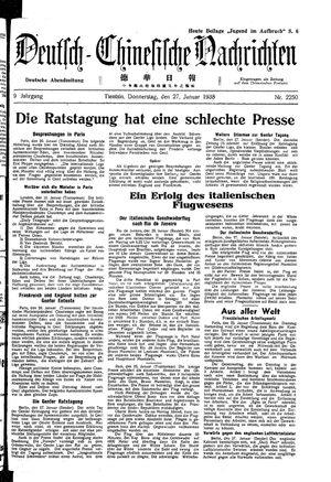 Deutsch-chinesische Nachrichten vom 27.01.1938