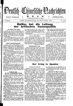Deutsch-chinesische Nachrichten vom 26.02.1938
