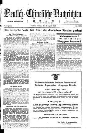 Deutsch-chinesische Nachrichten vom 08.04.1938