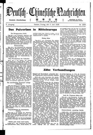 Deutsch-chinesische Nachrichten vom 03.06.1938