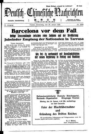 Deutsch-chinesische Nachrichten on Jan 26, 1939
