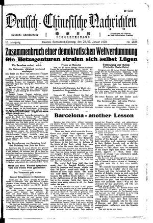 Deutsch-chinesische Nachrichten vom 28.01.1939