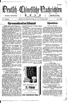 Deutsch-chinesische Nachrichten vom 04.02.1939