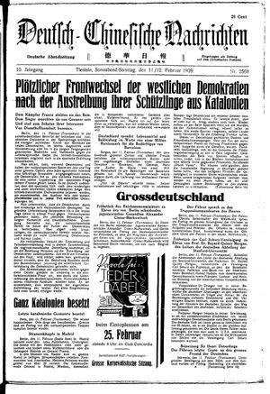 Deutsch-chinesische Nachrichten vom 11.02.1939