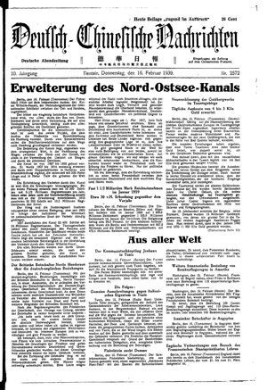Deutsch-chinesische Nachrichten on Feb 16, 1939