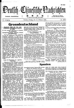 Deutsch-chinesische Nachrichten vom 17.02.1939