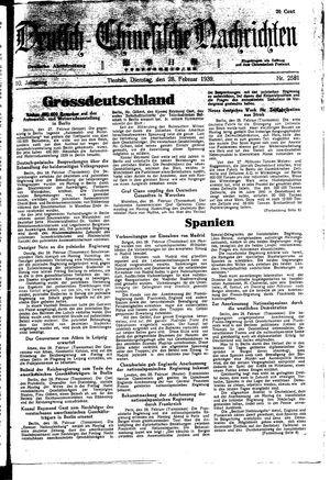 Deutsch-chinesische Nachrichten vom 28.02.1939