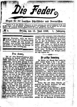 ˜Dieœ Feder vom 15.06.1898