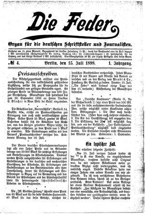 ˜Dieœ Feder vom 15.07.1898