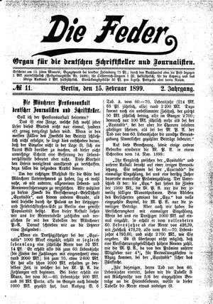 ˜Dieœ Feder on Feb 15, 1899