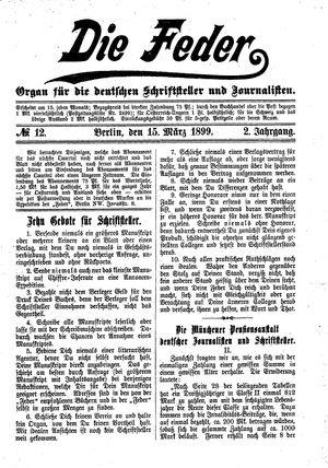 ˜Dieœ Feder vom 15.03.1899