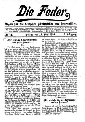 ˜Dieœ Feder vom 15.05.1899