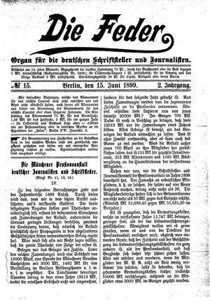 ˜Dieœ Feder vom 15.06.1899